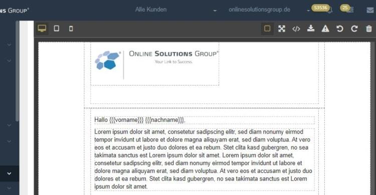Mit dem Mailing Tool aus der Performance Suite können Sie ganz einfach Newsletter erstellen.