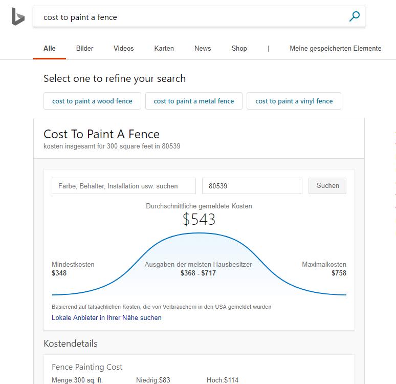 Neues Bing Update Serviceleistungen
