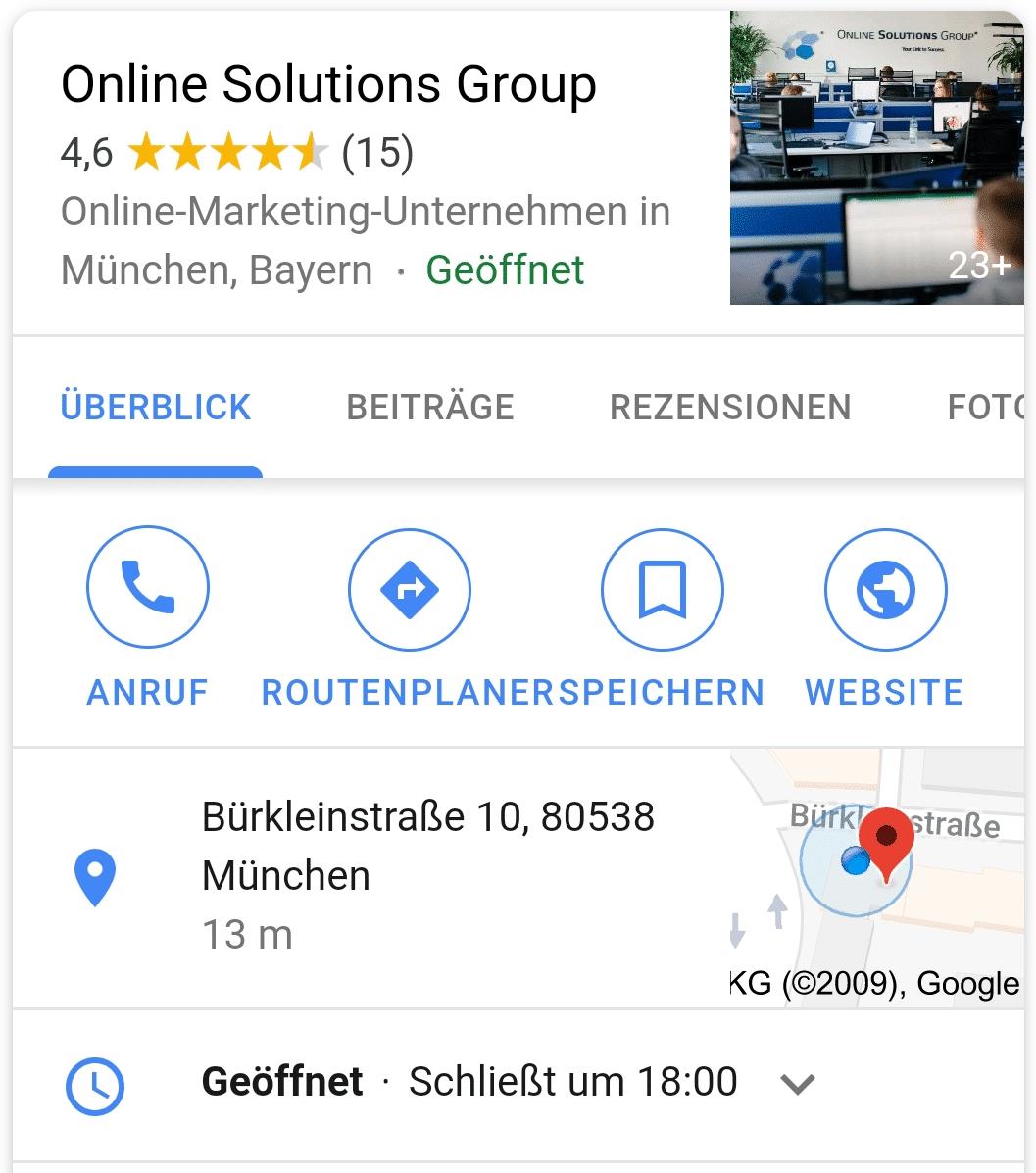 Neues Design für die mobile Suche nach lokalen Geschäften