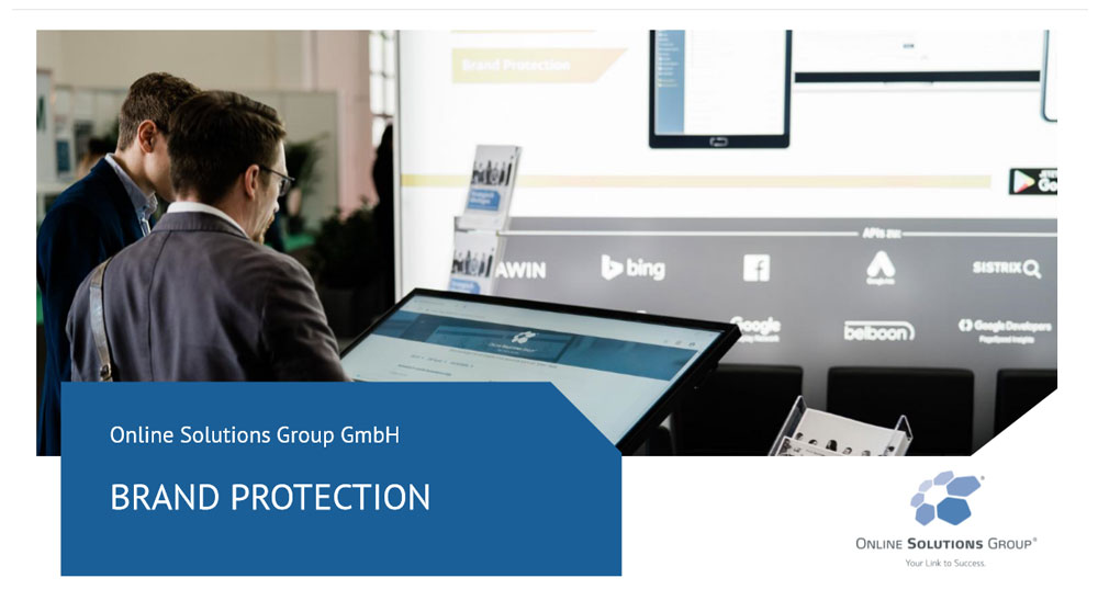 Brand Protection Tool von der Online Solutions Group