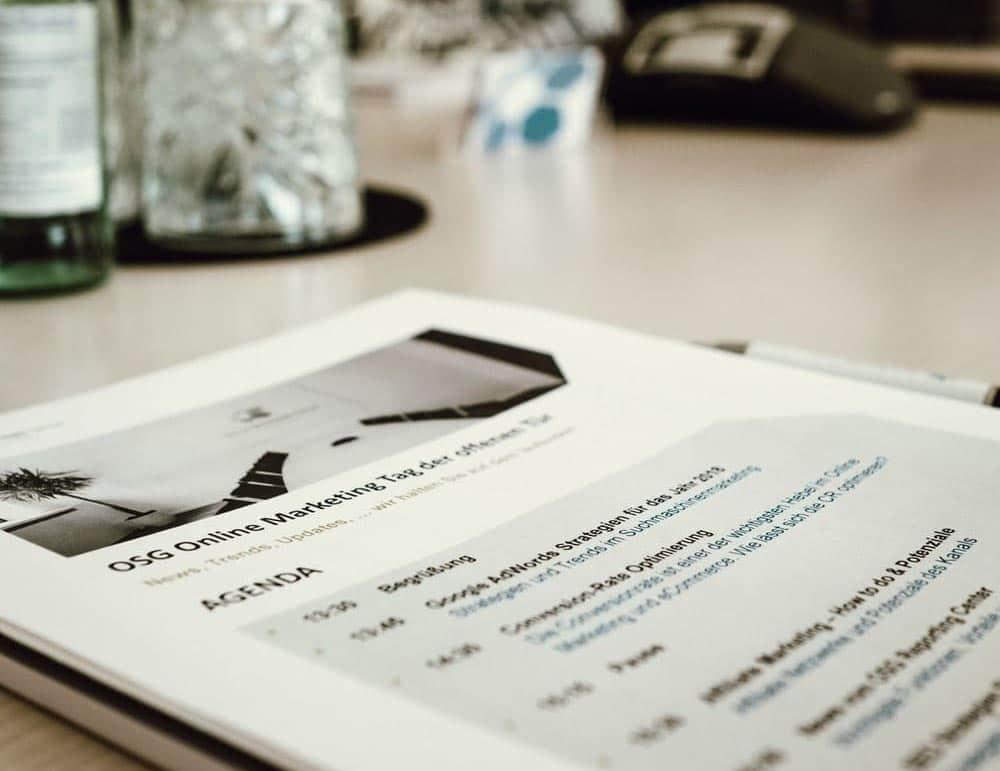Es standen fünf spannenden Vorträge aus allen Bereichen des Online Marketings auf der Agenda.