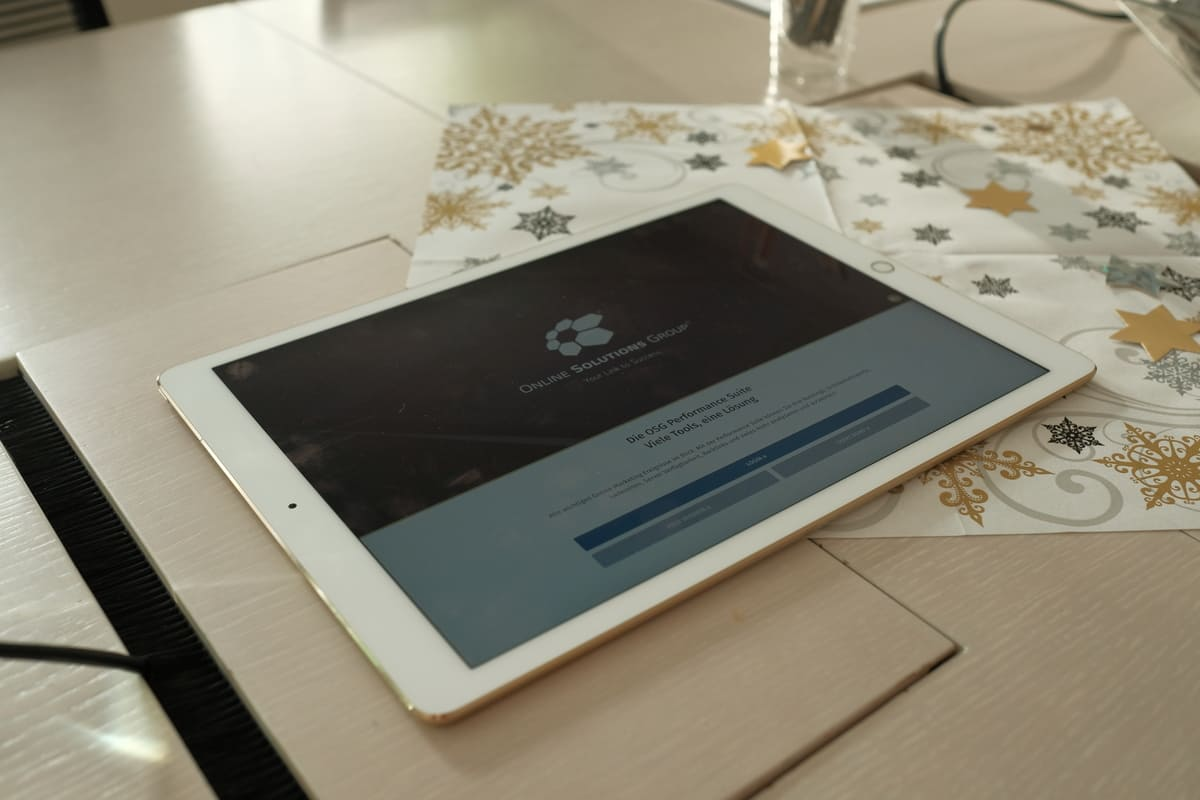 Die OSG Performance Suite und die passende App konnten auf einem iPad ausgiebig getestet werden.