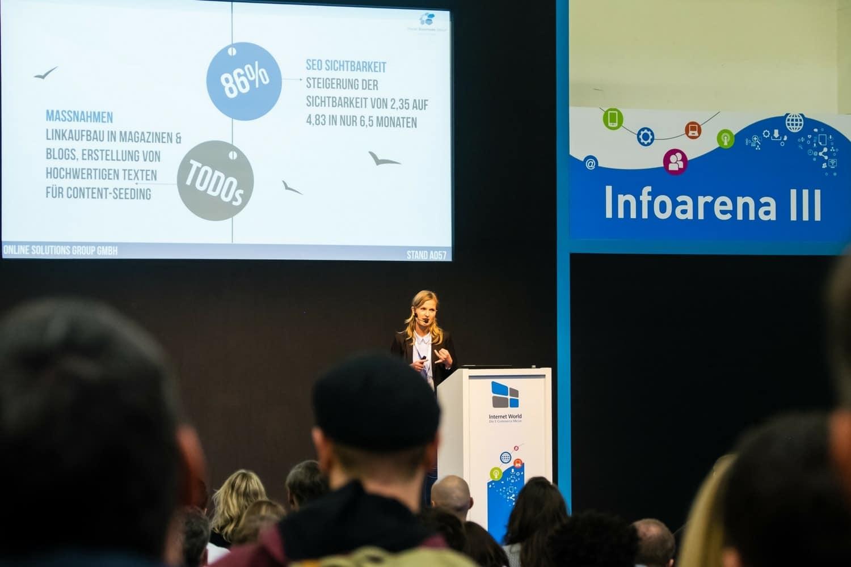 Vortrag Diana Karcz auf der Internet World