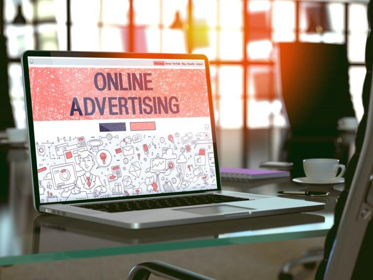 Online Advertising Lap Top