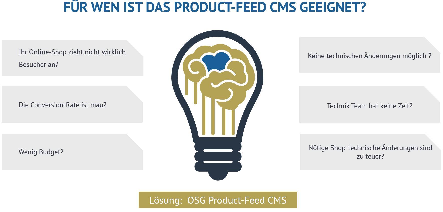 für wen ist das product feed cms von osg geeignet