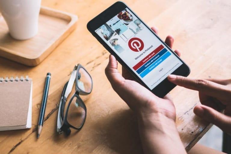 Pinterest auf dem Smartphne