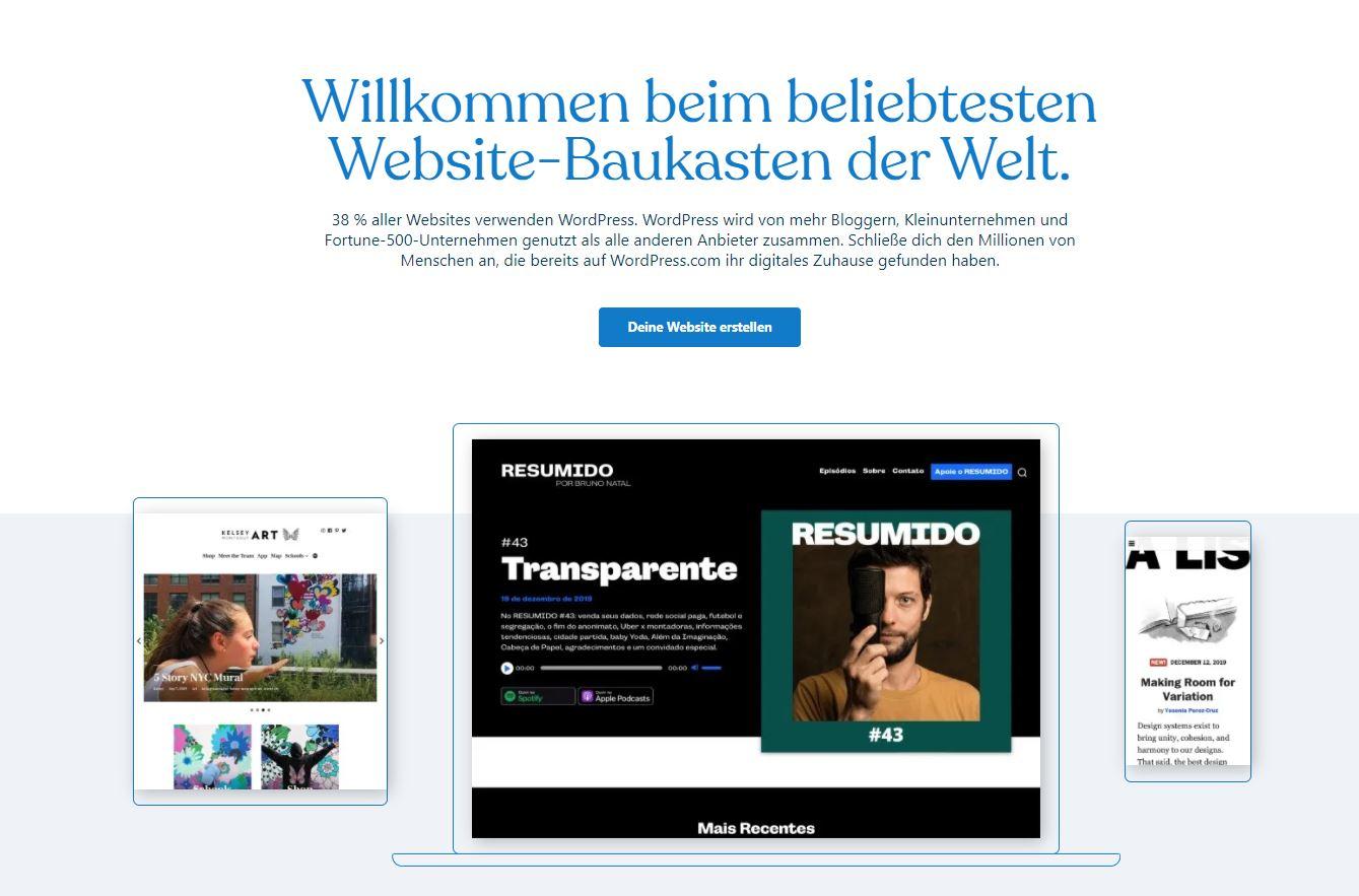Wordpress für die eigene Website