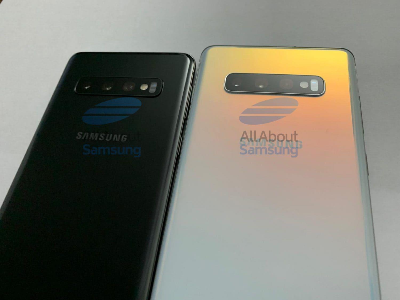 Samsung Galaxy S10 und S10 Plus betrachtet von der Rückseite