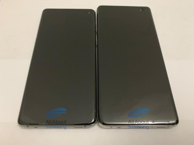 Samsung Galaxy S10 und S10 Plus bei ausgeschaltetem Display in der Frontansicht