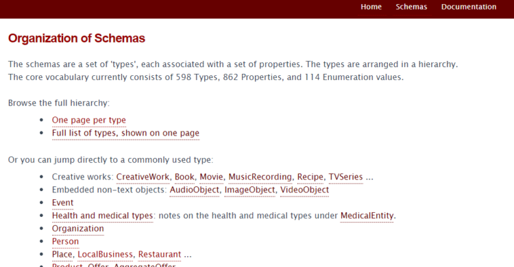 Schema.org hilft dabei, strukturierte Daten für Rich Snippets zu finden.