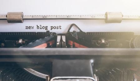 Schreibmaschine Blog Post