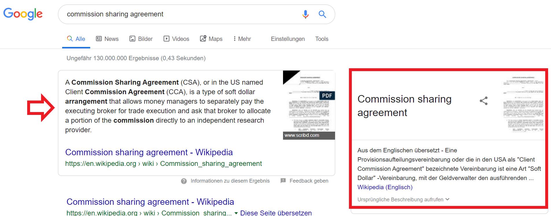 Screenshort Google Übersetzung rechte Seite