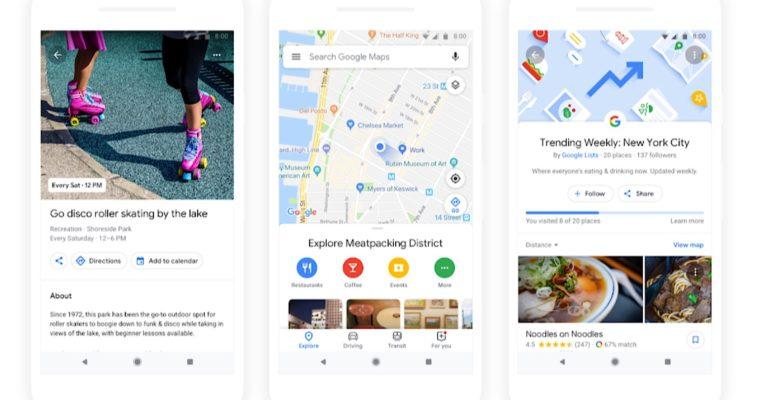 Screenshot Google Map Update mit Mashine Learning