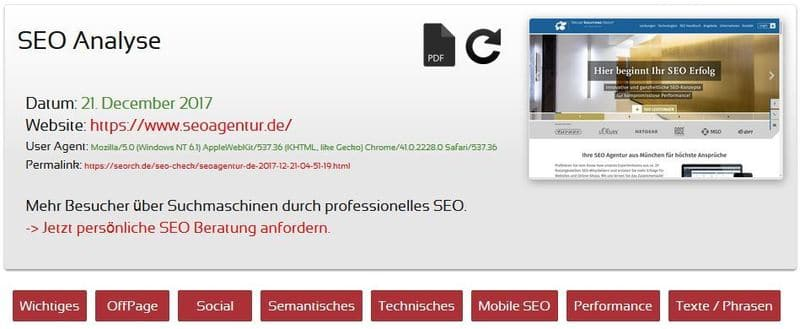 Screenshot seorch.de