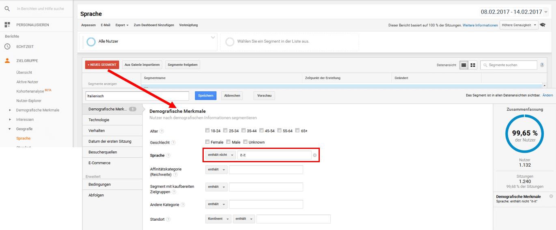 Google Analytics Spam heraussegmentieren