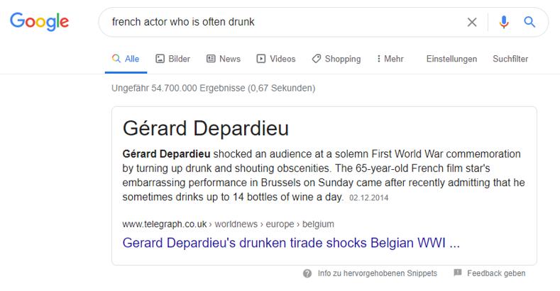 Semantische Suche: Beispiel