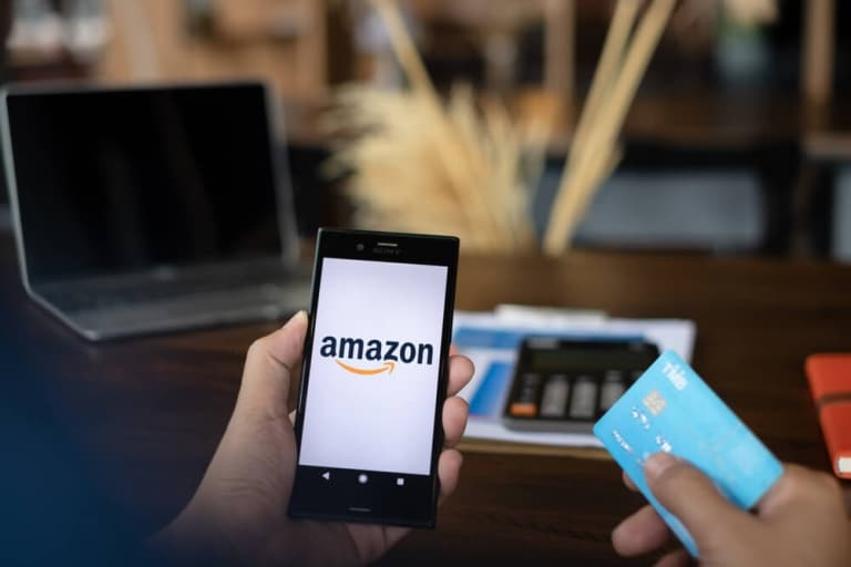 Smartphone-Amazon-Kreditkarte