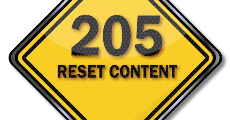 Statuscode 205 Reset Content