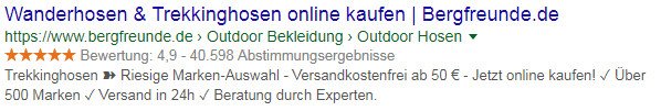 Sternebewertung-Rich-Snippets
