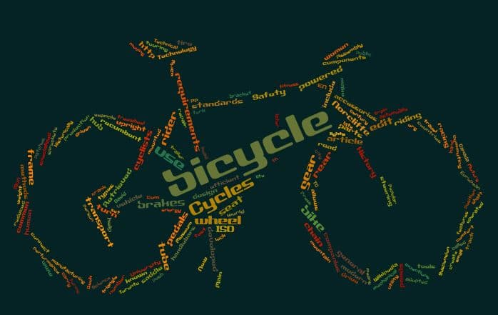 Tagxedo Wortwolke Bicycle