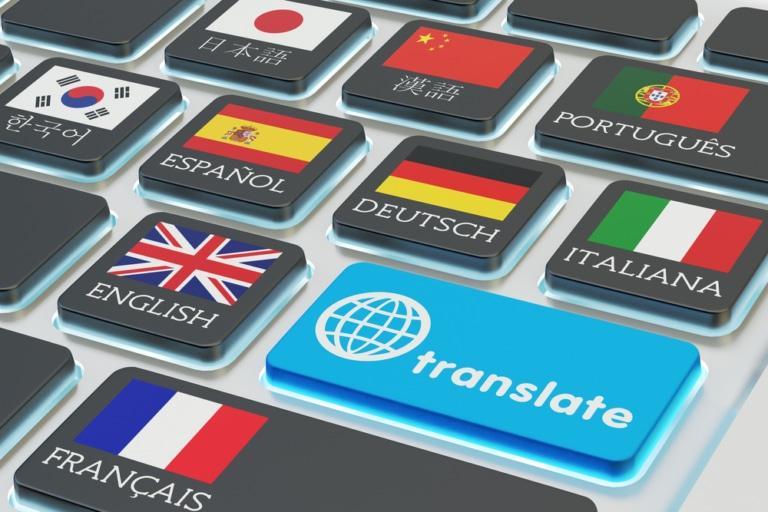 Tastatur mit Übersetzungen