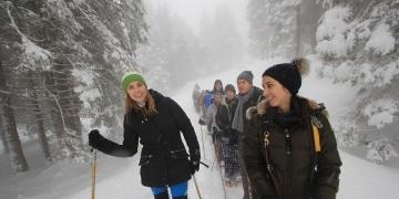 die OSG beim Schneeschuhwandern