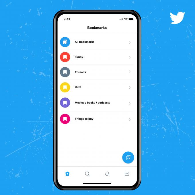 Twitter Blue Funktionen: Bookmark