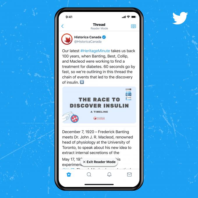 Twitter Blue Funktionen: Lesemodus
