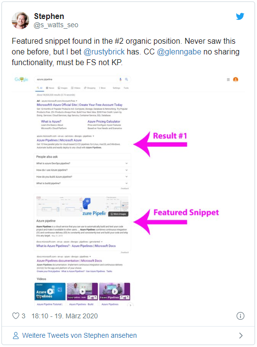 Twitter Featured Snippets