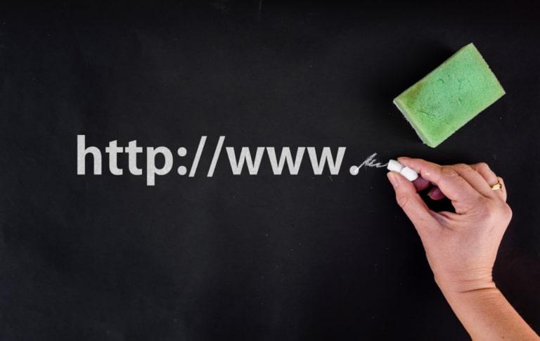 URL auf Tafel