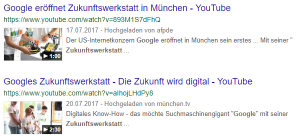 Video Rich Snippet Google
