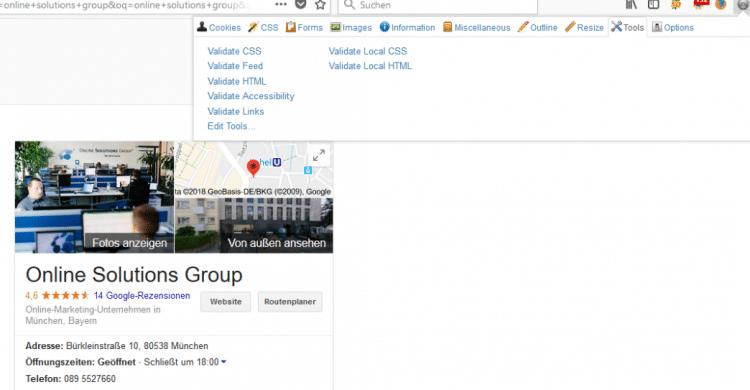 Webdeveloper Tools