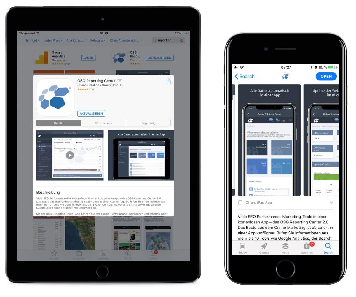 Der Eintrag im jeweiligen App Store ist ein wichtiger Bestandteil in der App Vermarktung. Er gehört ebenfalls zum Bereich der Owned Media. Allerdings muss auf die Vorgaben des jeweiligen App Stores geachtet werden.