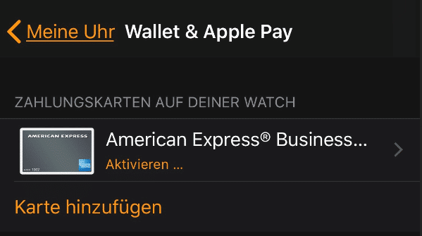 Apple Pay mit Apple Watch verwenden