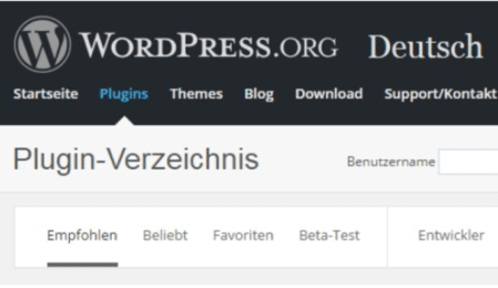Screenshot Wordpress