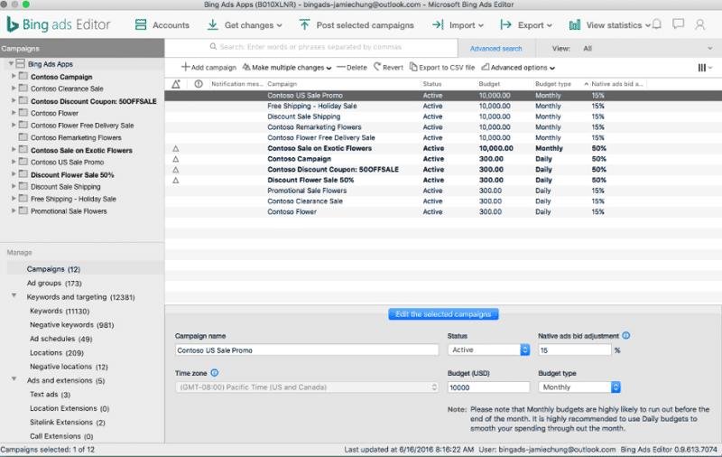 Glossarbild - Bing Ads Editor