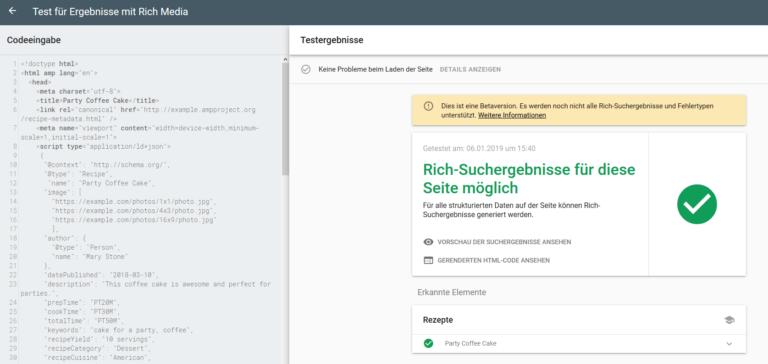 Das Rich Results Testing-Tool von Google unterstützt ab jetzt eine Editierfunktion für Codes