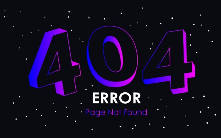 Coverbild einer 404 Fehlermeldung Illustration