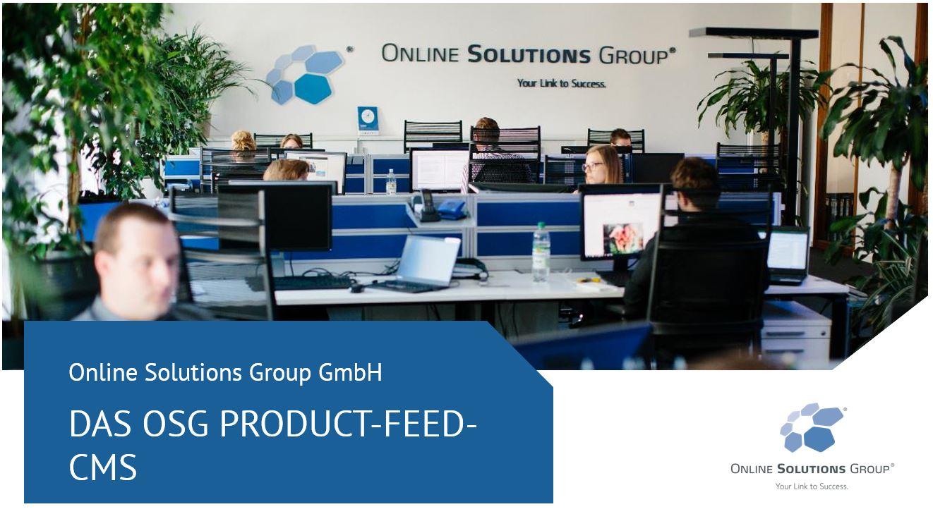 Das OSG Product FEED CMS