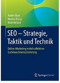 Die besten SEO Bücher - Buchcover SEO - Strategie, Taktik und Technik