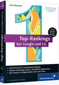 Die besten SEO Bücher - Buchcover Top-Rankins bei Google und Co.