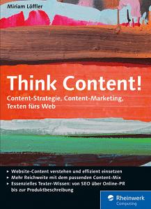 Die besten SEO Bücher - Buchcover Think Content!
