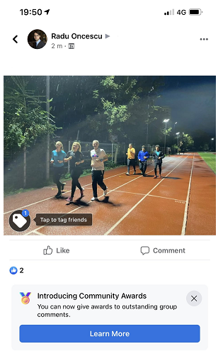 Facebook: Community Award in den Kommentaren