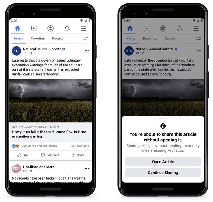 Facebook: jetzt auch gegen Fehlinformationen