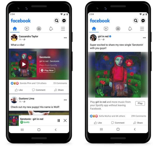 Facebook Spotify Kooperation