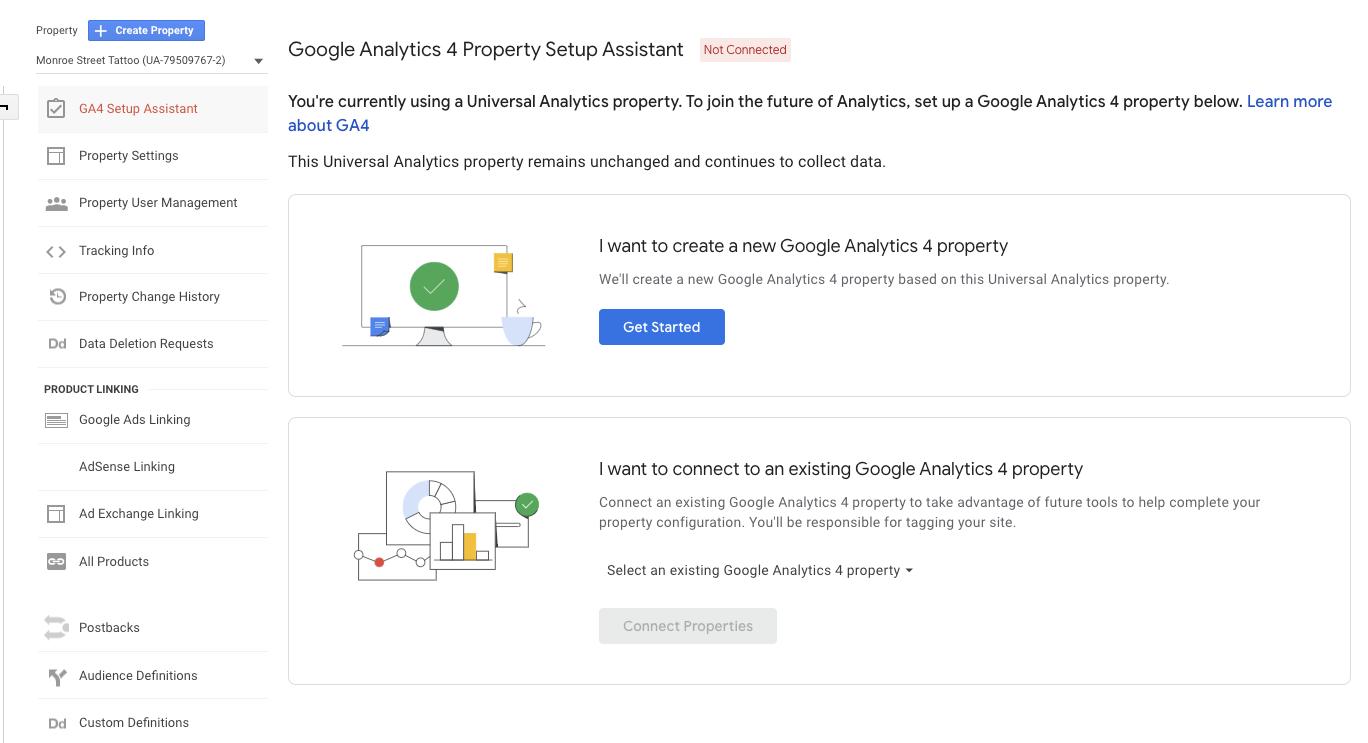 Google Analytics 4 get started