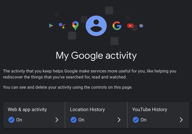 Google Aktivität kann Passwortgeschützt werden