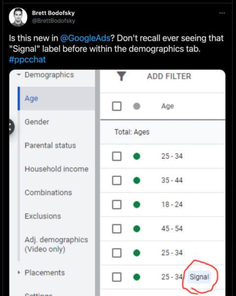 google ads signal