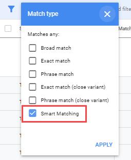 Google Ads Smart Matching