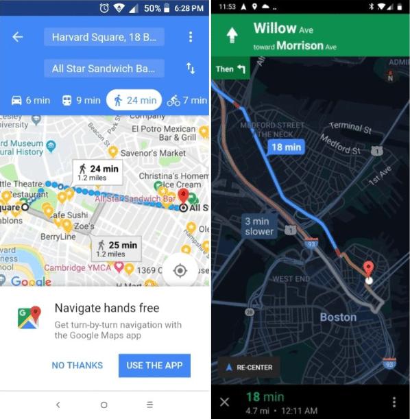 Google Maps Go bekommt Navigationsfunktion